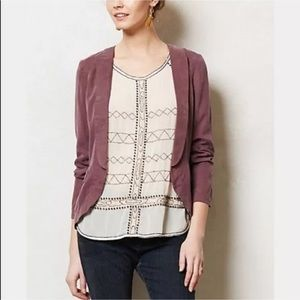 Anthropologie's Elevenses Whitby lavender blazer